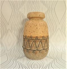 Haldensleben East German Fat Lava Vase Mid Century Modern Vintage Pottery Design 2801D Modernist Home Decor by BelieveToBeBeautiful on Etsy