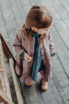 Little Girls Handmade Linen Coat & Dress | Lapetitealice on Etsy