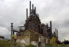 A plant at the old Bethlehem Steelworks, in Lackawanna, NY, south of Buffalo, was (during the the fourth largest steel mill in the world. It has been closed since Abandoned Buildings, Abandoned Mansions, Abandoned Places, Bethlehem Steel, Bethlehem Pa, Toms, Abandoned Factory, Steel Mill, Architecture