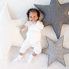 Sterrenkussens, Deze sterrenkussens zijn leuk als kraamcadeau of om in de babykamer te leggen.