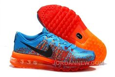http://www.jordannew.com/nike-flyknit-air-max-mens-running-shoes-blue-black-orange-for-sale.html NIKE FLYKNIT AIR MAX MENS RUNNING SHOES BLUE BLACK ORANGE FOR SALE Only $51.44 , Free Shipping!
