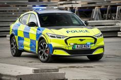- Ford builds Mustang Mach-E police concept - SUV is a green solution for UK's forces - Unveiled today at the Emergency Services Show - Ford and Safeguard SVP also displaying five-tonne Transit conversion The new Ford Mach-E has already caught the imagination of thousands of customers and fans, but a new client has also shown considerable interest – the UK's police force. Devon And Cornwall, Rear Wheel Drive, Tonne, Latest Cars, Electric Car, Police Cars, Concept Cars, Ford Mustang, Automobile