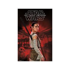 Star Wars The Force Awakens- Rey In Profile Poster (495 PHP) ❤ liked on Polyvore featuring home, home decor, wall art, star wars wall art, star wars poster and star wars home decor
