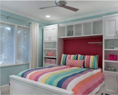 master bedroom shelves above the bed - Google Search