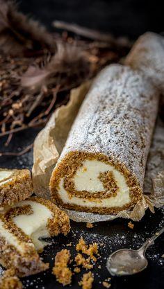 Porkkanakakku-kääretorttu | Maku Baking Recipes, Cake Recipes, Dessert Recipes, Finnish Recipes, Piece Of Cakes, Sweet And Salty, Mellow Yellow, Let Them Eat Cake, No Bake Cake
