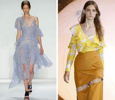 Tendencias de la moda primavera-verano 2017: Corte a un hombro