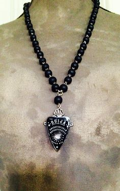 Ouija Planchette Necklace by sinnersandsaviours on Etsy Goth Jewelry, Gothic Jewellery, Fashion Jewelry, Goth Accessories, Inexpensive Jewelry, Ouija, Fascinator, Bling, Jewels