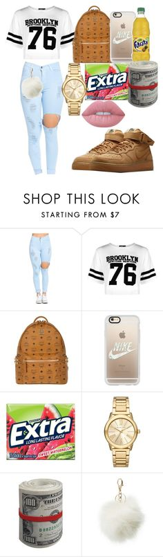 """""""Untitled #43"""" by cravekiah ❤ liked on Polyvore featuring Boohoo, MCM, Casetify, Michael Kors, Charlotte Russe and Lime Crime"""