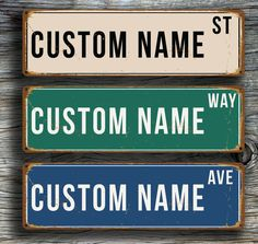 Custom VINTAGE STREET SIGN Vintage style by ClassicMetalSigns