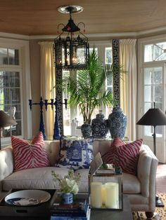 herb garden in sunroom | Moving along outside to the patio....I wouldn't do orange myself but ...