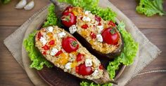 Recette de Aubergines farcies au riz, légumes et féta. Facile et rapide à réaliser, goûteuse et diététique. Ingrédients, préparation et recettes associées.