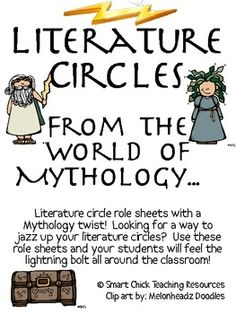 A Greek Mythology inspired Literature Circles packet that can be used throughout the school year, or can be used for one book (maybe a fantasy one).this will meet the cc! 8th Grade Ela, 6th Grade Social Studies, World Literature, Literature Circles, Reading Skills, Teaching Reading, Learning, 4th Grade Reading, Gifted Education