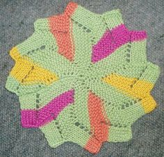 Free Knitting Pattern - Dishcloths & Washcloths : Windmill Dishcloth