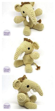 Amigurumi The Friendly Elephant Free Pattern – Free Amigurumi Patterns Last Stitch, Magic Circle, Little Elephant, Yarn Over, Crochet Patterns Amigurumi, Slip Stitch, Free Pattern, Weaving, How To Make