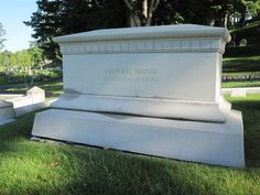 Grave Marker- Hannibal Hamlin, U.S. Vice President (Lincoln). Hannibal Hamlin was buried with honors in the Hamlin Family plot at Mount Hope Cemetery in Bangor, Maine.