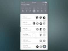 Schedule App Interactions designed by Justin Floyd for HQ. Ios App Design, Mobile App Design, Mobile Application Design, Mobile App Ui, User Interface Design, Interaktives Design, Best Ui Design, Mobiles Webdesign, App Design Inspiration