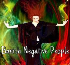"""Banish Negative People    The good ol' mirror binding can do the trick. Place a photo of the person face down onto a small hand mirror & wrap it with black ribbon or tape chanting """"You & your negativity will stay far away from me"""". This will both keep them from you, & make sure their negativity it reflected away from you & back to them."""