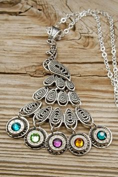 22 Caliber Colorful Peacock Bullet Necklace RP-22-N-PCN   bulletdesigns - Jewelry on ArtFire