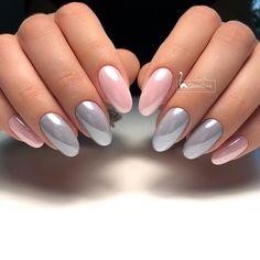 Best Beauty Nails Part 4 Natural Acrylic Nails, Cute Acrylic Nails, Acrylic Nail Designs, Round Nails, Oval Nails, Elegant Nails, Stylish Nails, Cute Toe Nails, Pretty Nails