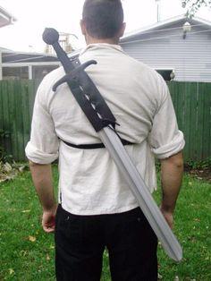 Leather Back Scabbard FOR Latex Sword Reenactment GN Larp | eBay