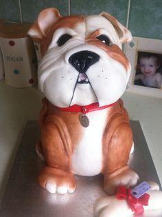 3d dog cake