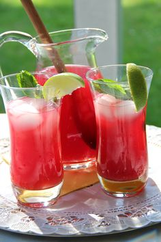 Citrus & Mint Hibiscus Iced Tea