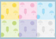 Umbrella and Lantern Pattern Vectors 104660 -  Rain is so beautiful during spring showers – this set includes six colorful patterns for Spring showers and for April Showers.  - https://www.welovesolo.com/umbrella-and-lantern-pattern-vectors/?utm_source=PN&utm_medium=weloveso80%40gmail.com&utm_campaign=SNAP%2Bfrom%2BWeLoveSoLo