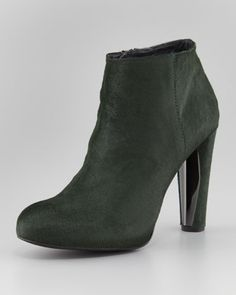 Right Calf Hair Ankle Boot by Stuart Weitzman at Neiman Marcus.