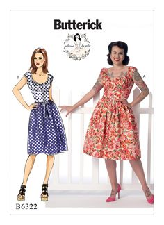 B6322 | Butterick Patterns  Another cute pattern, more gathering than I usually like in sewing. Try as I might, I can never seem to get my gathers perfectly even.