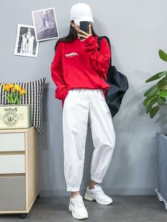 Casual Outfit Dance outfit Sport outfit - My Tutorial and Ideas Kpop Fashion Outfits, Swag Outfits, Korean Outfits, Cute Casual Outfits, Dance Outfits, Sport Outfits, Fashion Clothes, Clothes Women, Hijab Fashion