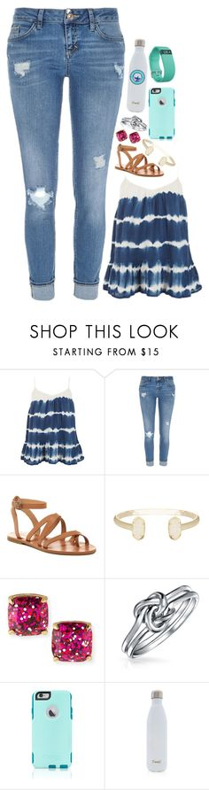 """""""The food tag"""" by calums-kinda-hot-tho ❤ liked on Polyvore featuring BA&SH, River Island, Lucky Brand, Kendra Scott, Kate Spade, Bling Jewelry, OtterBox, S'well, Southern Proper and Fitbit"""