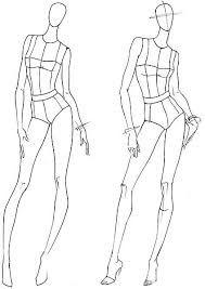 Resultado de imagen para plantillas figurines de moda