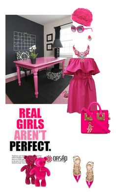 """""""shocking pink"""" by pensivepeacock ❤ liked on Polyvore"""