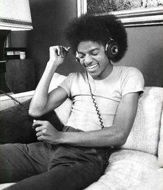 Michael Jackson having a joyous moment.
