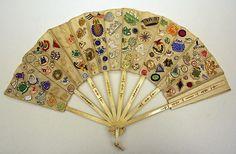 """""""VanderBiltmore Style"""": Ladies Fan, Date: ca. 1900, Culture: American. Medium: Ivory, Silk."""