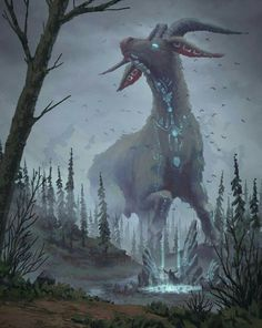 Image result for displacer beast art fantasy