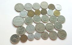 Coins Circulated Discontinued Foreign World Lot of 35 Money Currency Franc Zloty