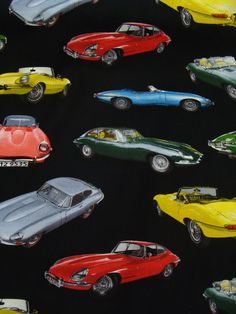 This ITEM is for one of a brand new: SPORTS CARS 50S PATTERN FABRIC COTTON FABRIC -1/2 YARD, NEW AND RARE 18 Inches wide x 44 In (BE SURE TO COMPARE THE DIMENSIONS ABOVE) * 100% cotton fabric * NEW~Never Washed! * Perfect condition * Can be machine washed and dried *