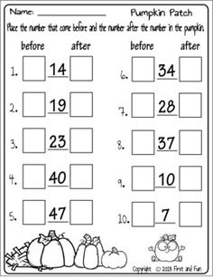 Spring Activities For Kindergarten, Spring Math Worksheets