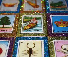 Mexican Wedding Favors Loteria Glitter Matchboxes