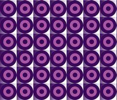 Danita's Purple Bull's Eye fabric by midcoast_miscellany on Spoonflower - custom fabric