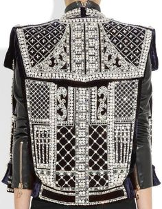 Another Balmain piece, they are known for their heavy yet elegant embellishments on their ranges