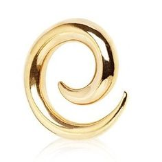 Inspiration Dezigns Romantic Swirls Steel Ear Gauge Spiral Hanging Tapers Sold as a Pair