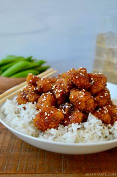 Ditch the deep-fryer and whip up a takeout-inspired recipe for Crispy Baked Sesame Chicken made with just a few simple ingredients. Sesame Chicken Sauce, Healthy Sesame Chicken, Sesame Sauce, Crispy Chicken, Homemade Chicken Nuggets, Baked Chicken Nuggets, Baked Chicken Recipes, Oven Baked Sesame Chicken Recipe, Recipes With Chicken Nuggets