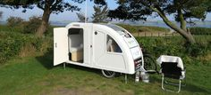 "The Danish entrepreneur Mads Johansen has created ""The Wide Path Camper,"" an astoundingly light camper mounted on a bicycle trailer. The camper is made of fiberglass, weighs a mere 45 kilos and can be folded to half-size making transport easy. The tiny mobile home costs around 15,000 Danish kroner (approx. $2,500). It is also possible to …"