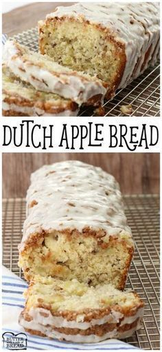 Dutch Apple Bread - recipe for homemade bread with wonderful flavor & filled with fresh apple. Butter With A Side of Bread