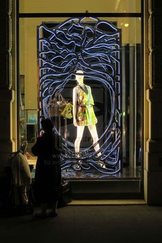 "The Next Step - Picture of the Day: 6/30/14 - ""Fifth Avenue Face Off"" On the outside looking in, at the Versace store in Manhattan's Fifth Avenue.  ""Fashion! Turn to the left Fashion! Turn to the right Oooh, fashion! We are the goon squad  and we're coming to town Beep-beep Beep-beep""  ~ David Bowie - 1980"