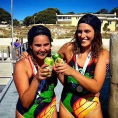 Congrats to these two for getting through the Rottnest Island swim over the weekend! A well deserved drink post race! #legends #openwater #Sharky #rottnestisland #WA #delfinasport #swimming #summer by delfinasport http://ift.tt/1L5GqLp