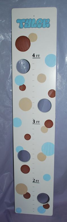 Personalized and Hand Painted Growth Chart by confettigiftsbyg