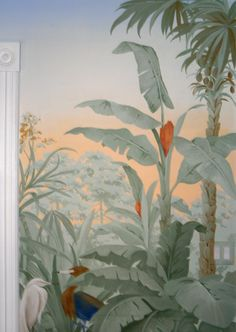 Tropical mural idea but in more vibrant colors.